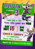 Chuck E Cheese Invitation
