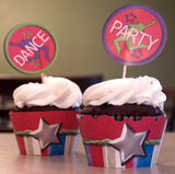 Dance Party Cupcake Wrappers