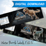 Jurassic Water Bottle Labels