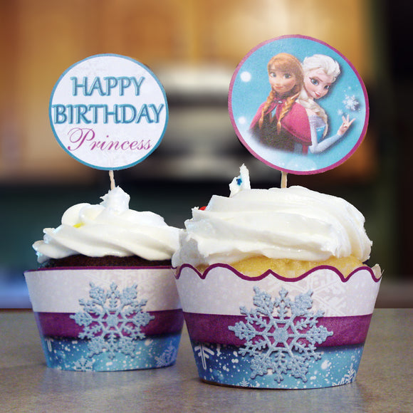 Frozen Cupcake Wrappers