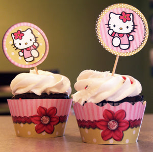 Hello Kitty Cupcake Wrappers