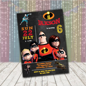 Incredibles Invitation