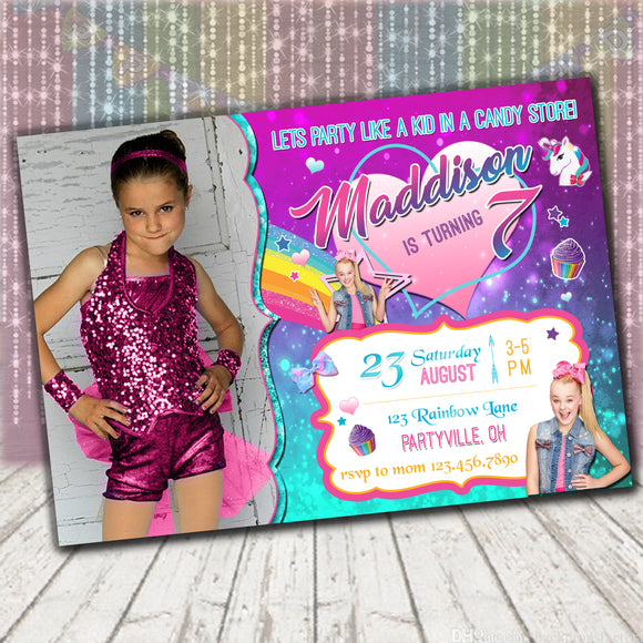 Jojo Siwa Invitation