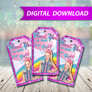 Jojo Siwa Favor Tags