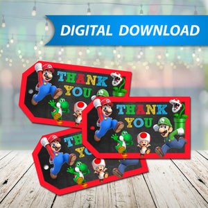 Super Mario Favor Tags