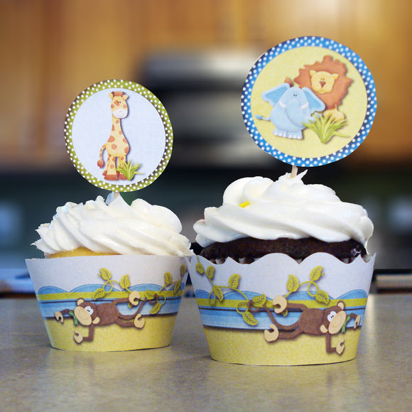 Baby Jungle Cupcake Wrappers