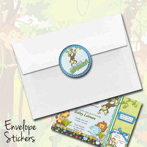 Baby Jungle Monkey Stickers