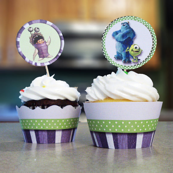 Monsters Inc Cupcake Wrappers