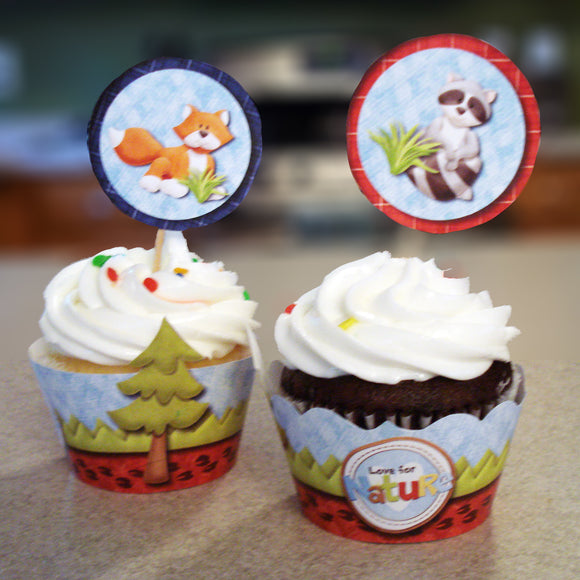 Woodland Creatures Cupcake Wrappers