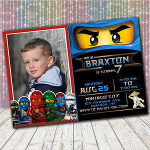 Ninjago Jay Invitation
