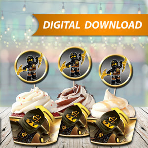 Ninjago Cole Cupcake Wrappers