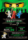 Ninjago Lloyd Invitation