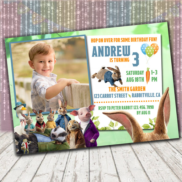 Peter Rabbit Invitation