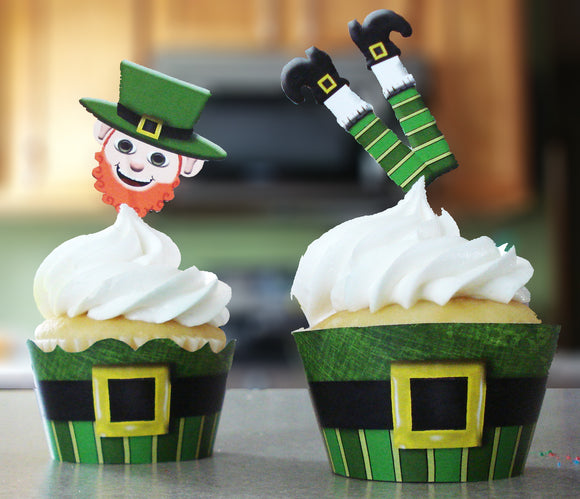 St. Patrick's Day Cupcake Wrappers