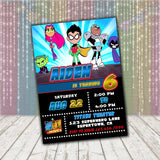 Teen Titans Go Invitation