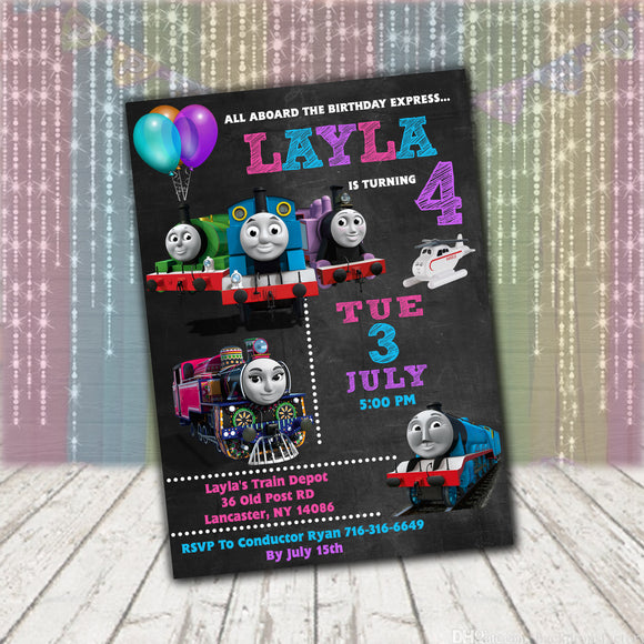 Thomas The Train Ashima Invitation