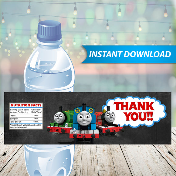 Thomas The Train Water Bottle Labels