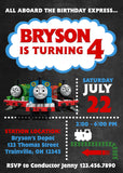 Thomas The Train Invitation