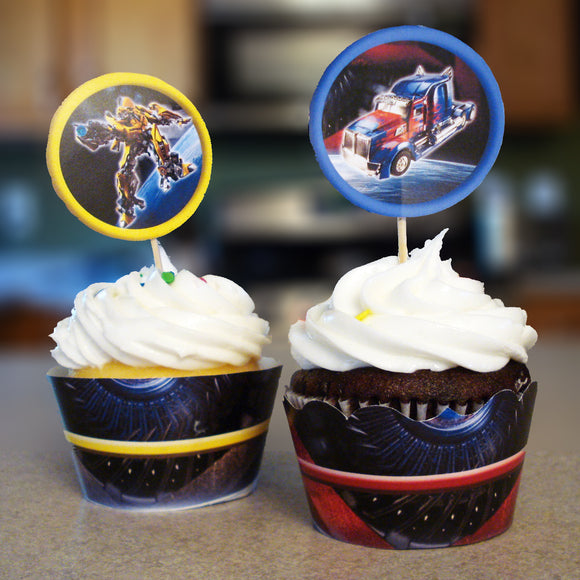 Transformers Cupcake Wrappers