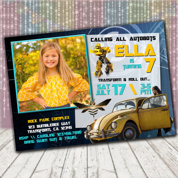 Transformers Bumblebee Invitation