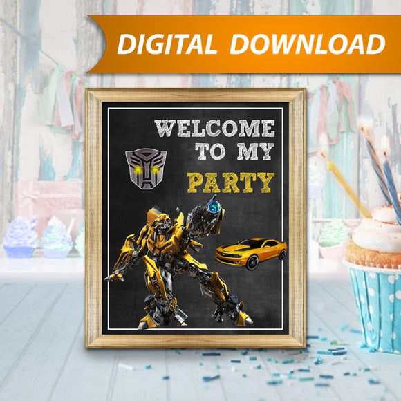 Transformers Bumblebee Sign
