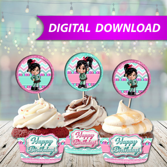 Vanellope Cupcake Wrappers