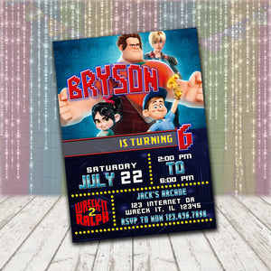 Wreck It Ralph Invitation