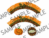 Halloween Pumpkin Cupcake Wrappers
