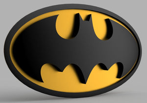 3D PRINTABLE Batman Cosplay Emblem DIGITAL STL file - SuperheroDIY