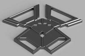 3D PRINTABLE | Captain America Rear Upper Harness Buckle | Digital STL File - SuperheroDIY