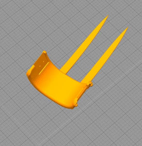 3D PRINTABLE Digital STL File | Shredder 1990 Hand Blade - SuperheroDIY