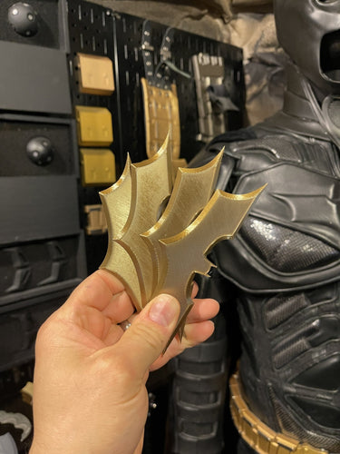 4-PACK TDK Metallic Batarang | The Dark Knight Batman Begins | 3D-printed plastic Batman Prop Replica - SuperheroDIY