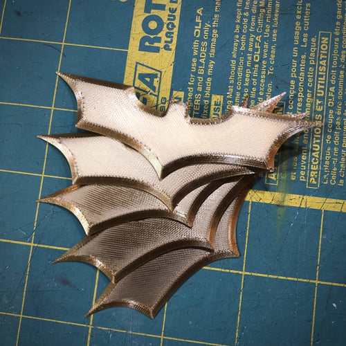 10-PACK MINI Batarang Batman TDK Metallic