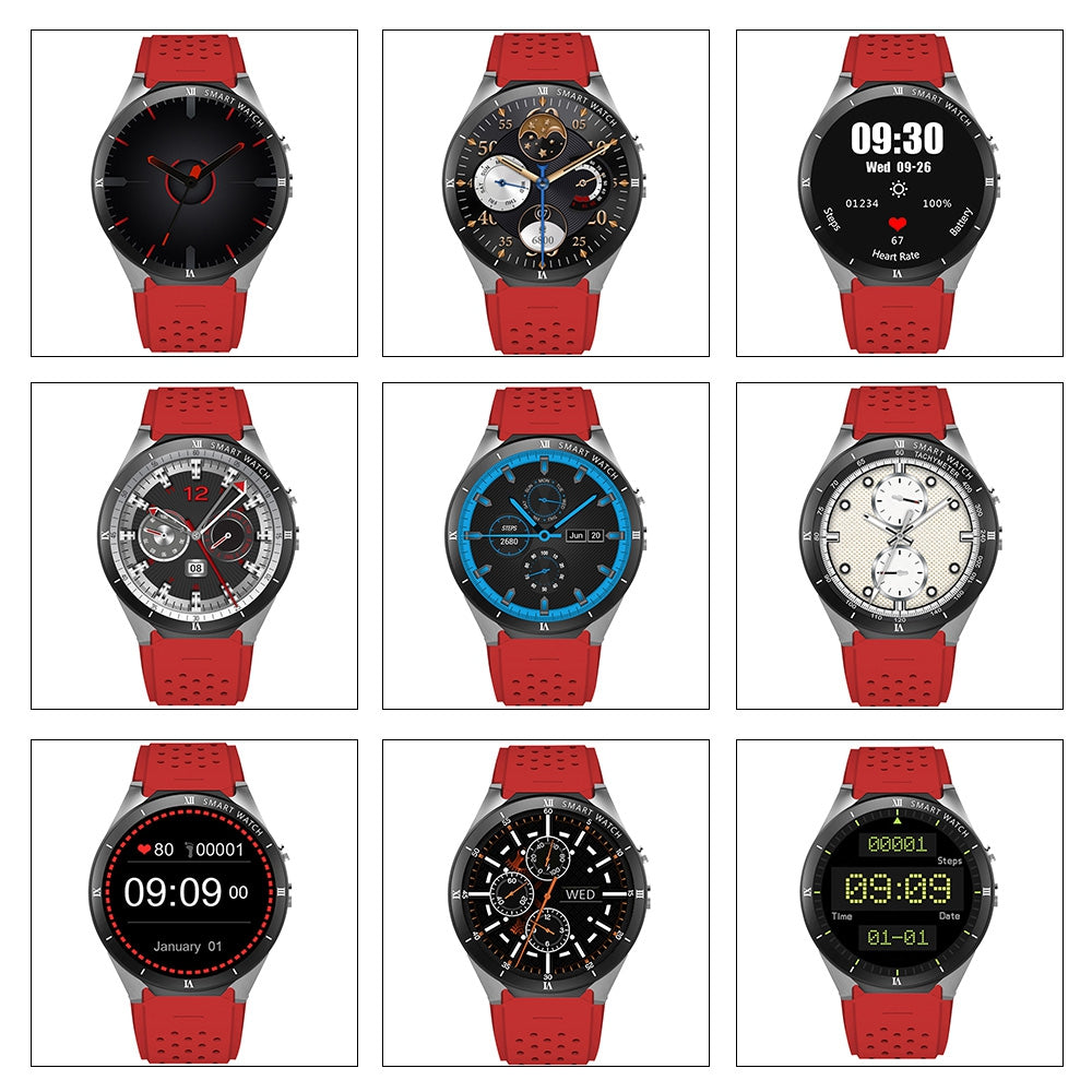Kingwear Kw88 Pro 3g Smartwatch Phone 1 39 Inch Android 7 0 Mtk6580