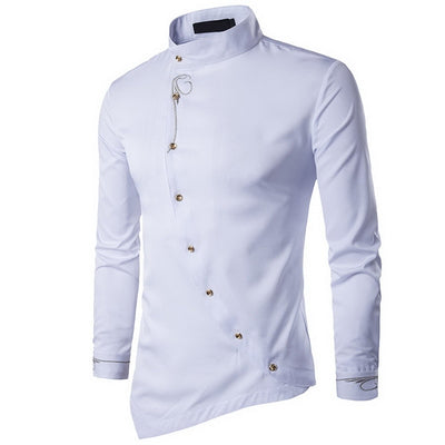 Mens Clothes 2019 Oblique Button  Shirts - fashionlavha.com