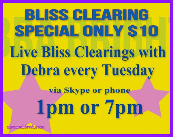 Tuesdays Weekly Live Bliss Clearing And Spiritual Energy & Life Coaching 1 Pm Aest