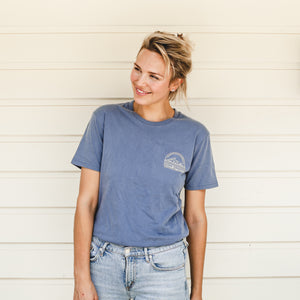 Hive & Harvest Unisex Tee - Faded Blue