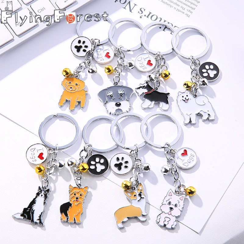 Various Dog Key Rings