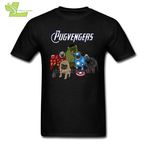 The Pugvengers T-Shirts Man O-Neck Tees