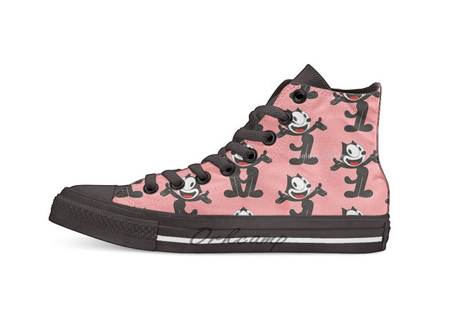 Felix the Cat High Top Canvas Shoes