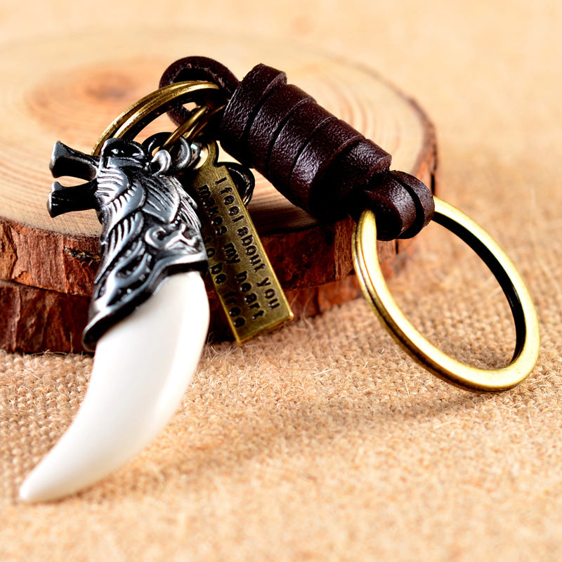 Viking Wolf Key Ring