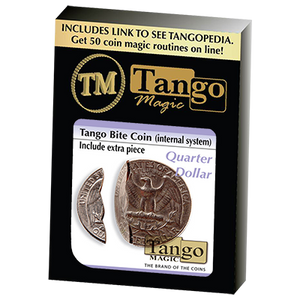 Bite Coin - US Quarter (Internal With Extra Piece) (D0045)by Tango - Trick