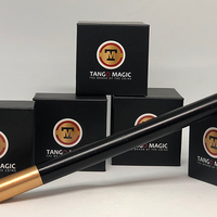 Mini Magic Wand in Black (W004) (with gold tips) by Tango -Trick