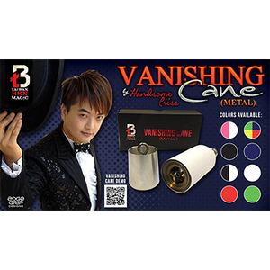 Vanishing Cane (Metal / Blue) by Handsome Criss and Taiwan Ben Magic - Tricks