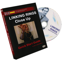 Close Up Linking Rings SILVER(BLACK BAG) (Gimmicks & DVD, SPANISH and English) by Matthew Garrett - Trick
