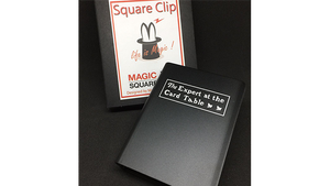 Expert At The Card Table Card Clip (Black) by Magic Square - Trick