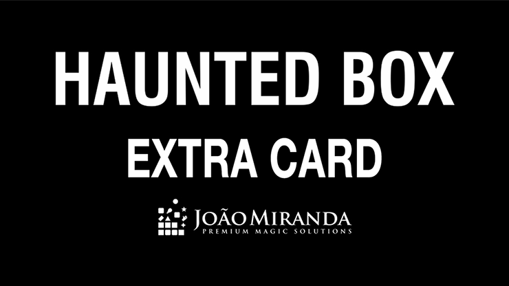 Haunted Box Extra Gimmicked Card (Red) by João Miranda Magic - Trick