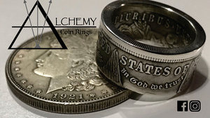 Kennedy Half Dollar Ring (Size: 10) by Alchemy Coin Rings - Trick