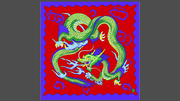 "Rice Symphony Silk 36"" (Red Dragon) by Silk King Studios - Trick"