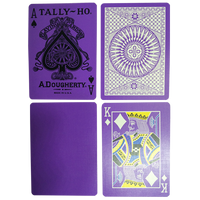 Tally Ho Reverse Circle back (Purple) Limited Ed. by Aloy Studios / USPCC - Playing Cards - Madanai Magic